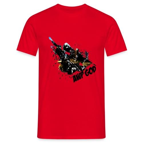 AWP GOD bright Men's T-Shirt : red - Men's T-Shirt