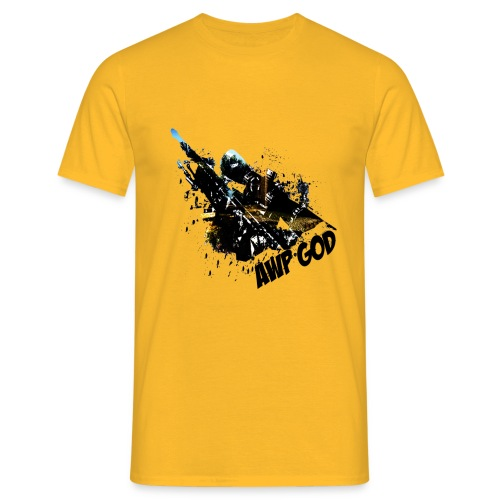 AWP GOD bright Men's T-Shirt : yellow - Men's T-Shirt