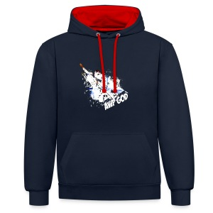 Contrast Colour Hoodie : navy/red - Contrast Colour Hoodie