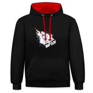 Contrast Colour Hoodie : black/red - Contrast Colour Hoodie