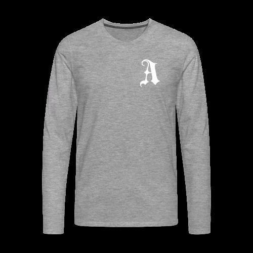 Men's Auxo Long Sleeve (White) - Men's Premium Longsleeve Shirt
