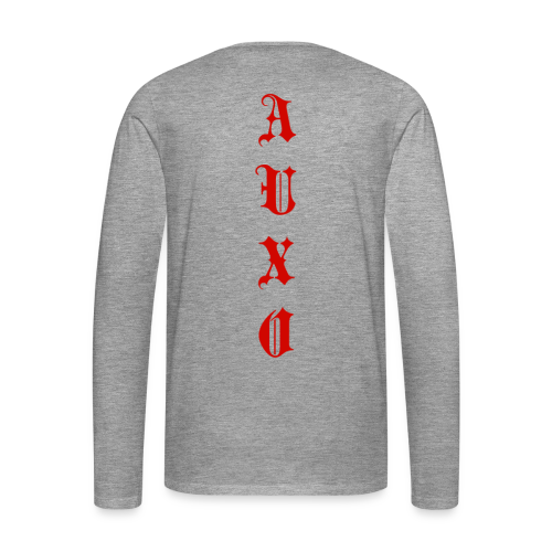 Men's Auxo Long Sleeve (Red) - Men's Premium Longsleeve Shirt