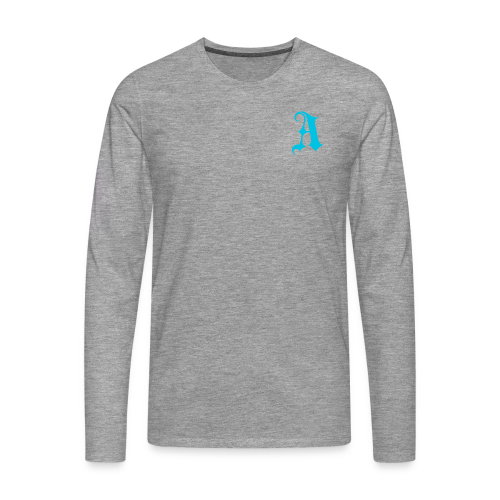 Men's Auxo Long Sleeve (Blue) - Men's Premium Longsleeve Shirt