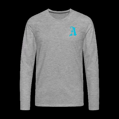 Men's Auxo Long Sleeve (Blue) - Men's Premium Longsleeve Shirt