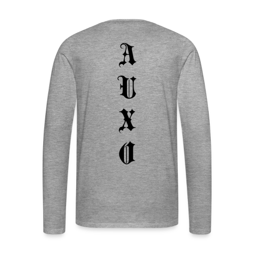 Men's Auxo Long Sleeve (Black) - Men's Premium Longsleeve Shirt