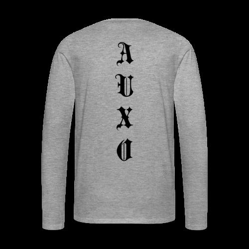 Men's Auxo Long Sleeve (Black) - Men's Premium Longsleeve Shirt