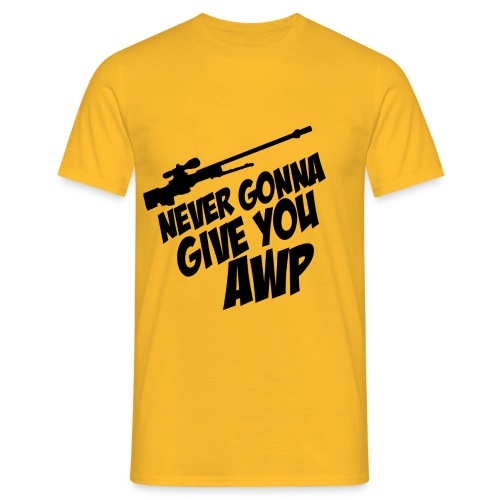 AWP MEM N.1 Men's T Shirt : yellow - Men's T-Shirt