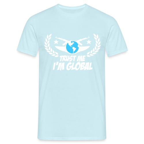 GLOBAL ELITE Men's T Shirt : sky - Men's T-Shirt