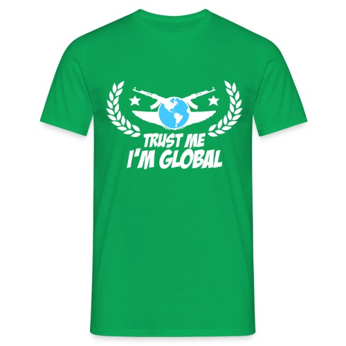 GLOBAL ELITE Men's T Shirt : kelly green - Men's T-Shirt