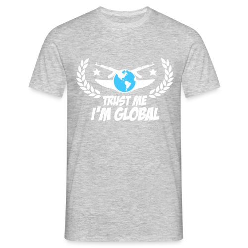 GLOBAL ELITE Men's T Shirt : heather grey - Men's T-Shirt