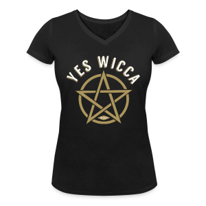 Yes Wicca - Tee shirt col V Femme