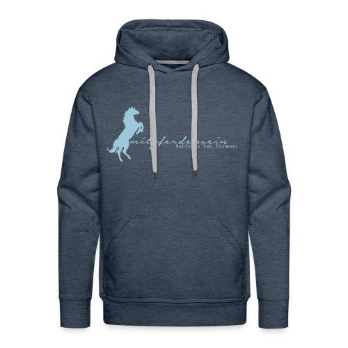 RU Font, Men Hoody  (Print: Digital Sky Blue) - Männer Premium Hoodie