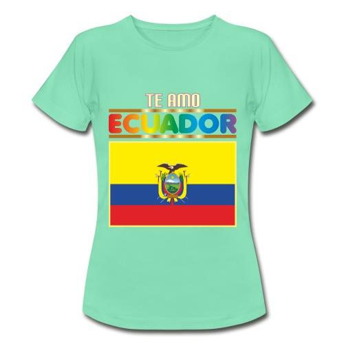 camiseta te amo ecuador - Camiseta mujer