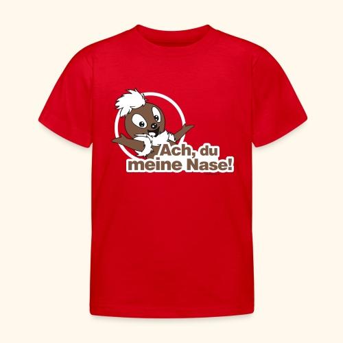 Kinder T-Shirt Pittiplatsch Ach du meine Nase - Kinder T-Shirt