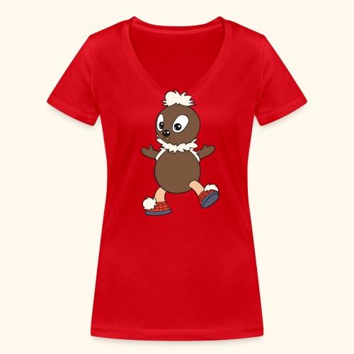 Frauen T-Shirt mit V-Ausschnitt Pittiplatsch tanzt - Frauen Bio-T-Shirt mit V-Ausschnitt von Stanley & Stella