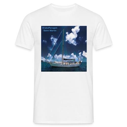 Men's T-Shirt - Anchored in Saint Martin - Men's T-Shirt