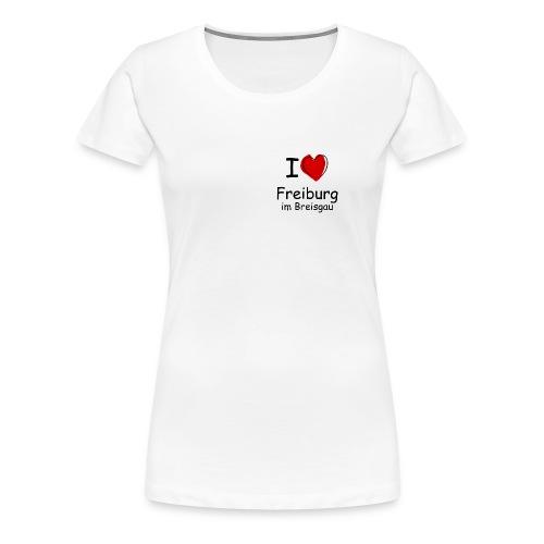Damen Premium T-Shirt I Love Freiburg - klein - Frauen Premium T-Shirt