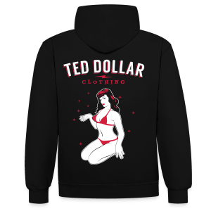 Sweat unisex Ted Dollar Clothing - Sweat-shirt contraste