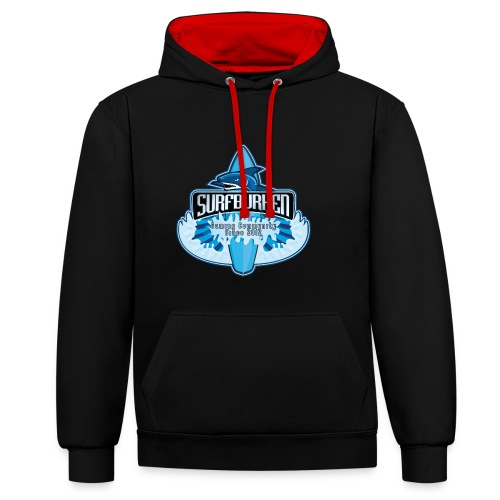 Hoodie unisex - Two color - Contrast Colour Hoodie