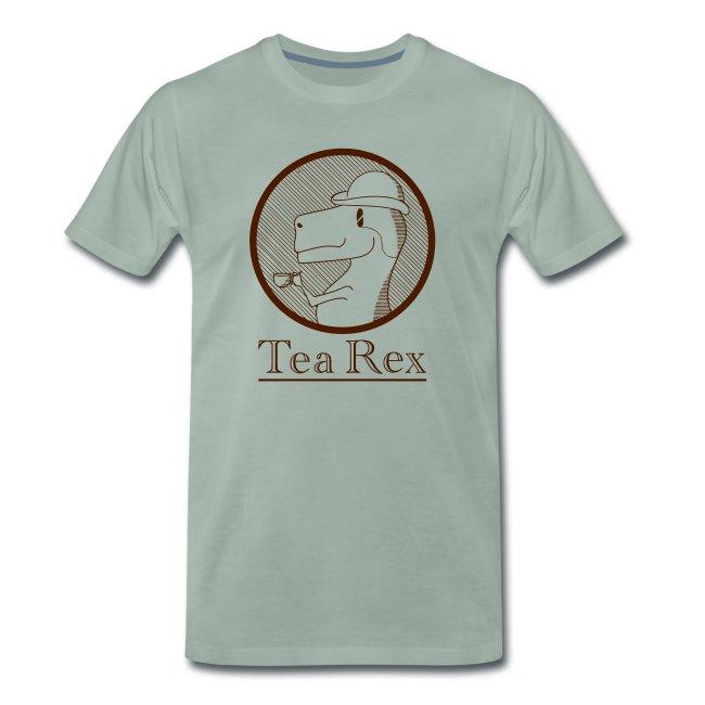 Funny T-rex dino Tea shirt (Tea Rex)