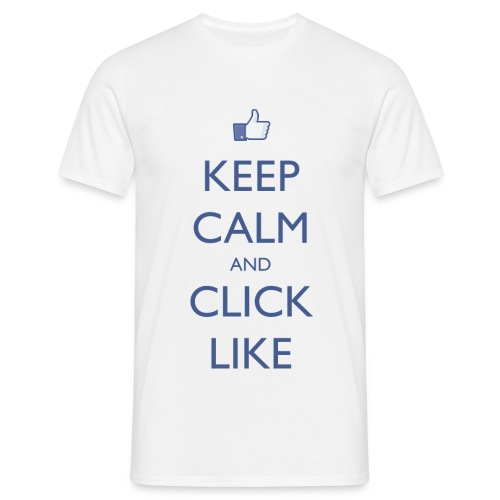 Keep Calm And Click Like Men's - Men's T-Shirt