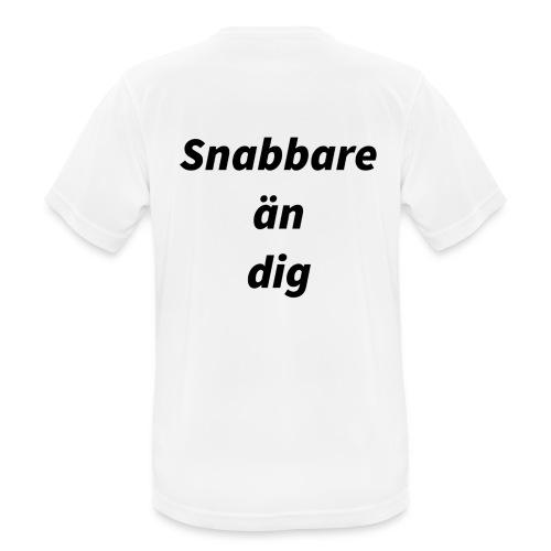 Snabbare än dig - Andningsaktiv T-shirt herr