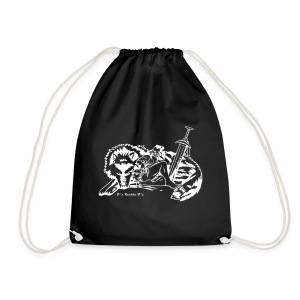 Orc Warrior Wolf DRAWSTRING BAG - Drawstring Bag