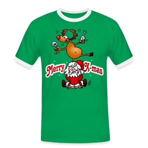 Merry X-mas - Merry Christmas T-Shirts - Mannen contrastshirt
