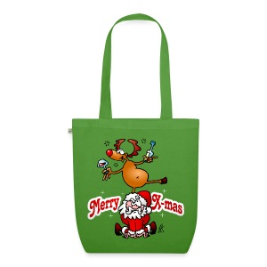 Merry X-mas from Santa Claus and his reindeer - EarthPositive Tote Bag