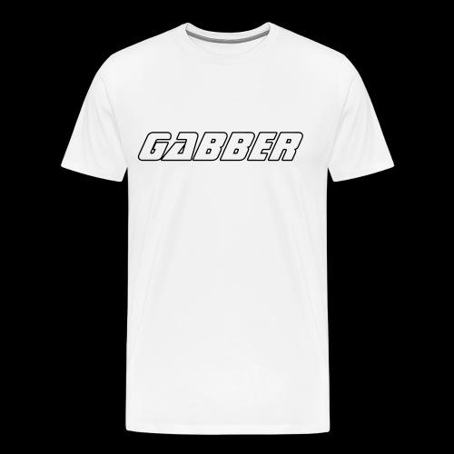 t shirt gabber blanc homme  - T-shirt Premium Homme