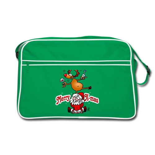 Merry X-mas - Merry Christmas Bags & Backpacks - Retro Bag