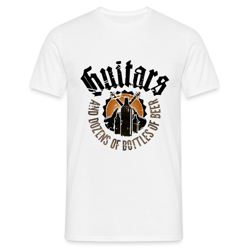 Guitars And Dozens of Bottles of Beer - Männer T-Shirt