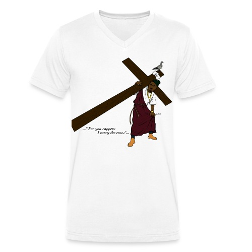 i carry the cross - Men's Organic V-Neck T-Shirt by Stanley & Stella