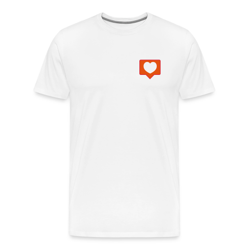 InstaLike Heart SHIRT - Men's Premium T-Shirt