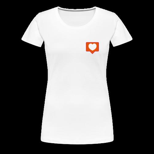 InstaLike Heart SHIRT - Women's Premium T-Shirt