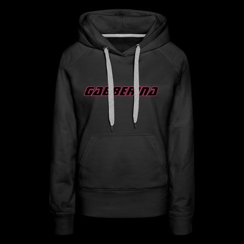 sweat a capuche femme gabberina - Sweat-shirt à capuche Premium pour femmes