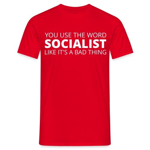 #ProudSocialist Men's T-Shirt - Men's T-Shirt