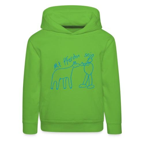 Naiv Print Kids Hoody ( Print: Blue)  - Kinder Premium Hoodie