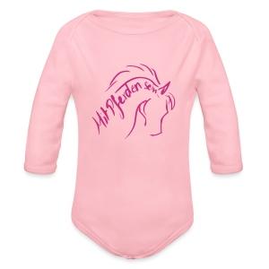 Proud Horse MPS  Baby- Langarmbody ( Print: Magenta) - Baby Bio-Langarm-Body
