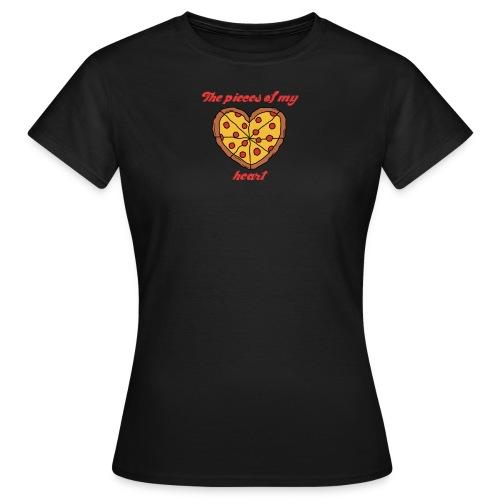 pizza heart tee [black] - Women's T-Shirt