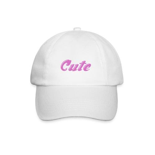 cute baseball hat [white] - Baseball Cap