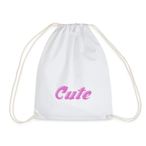 cute drawstring bag [white] - Drawstring Bag