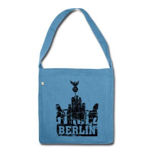 Quadriga Berlin Vintage Recycling Tasche - Schultertasche aus Recycling-Material