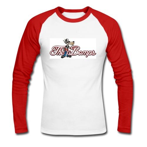 Långärmad t-shirt Vit/Röd Herr - Långärmad basebolltröja herr