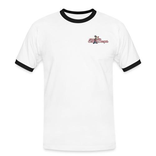 T-Shirt Röd Herr - Kontrast-T-shirt herr