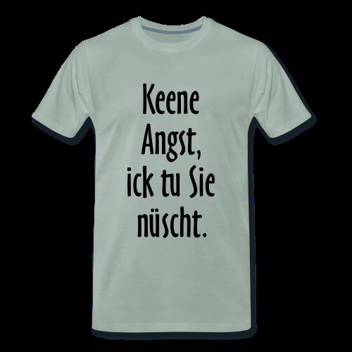 Ick tu sie nüscht S-5XL Berlinspruch T-Shirt - Männer Premium T-Shirt