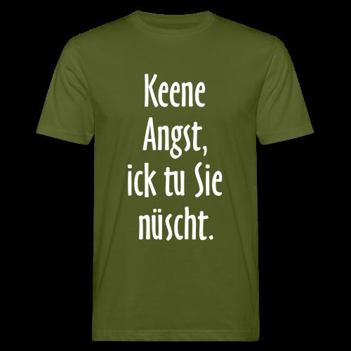 Ick tu sie nüscht Berlinspruch Bio T-Shirt - Männer Bio-T-Shirt