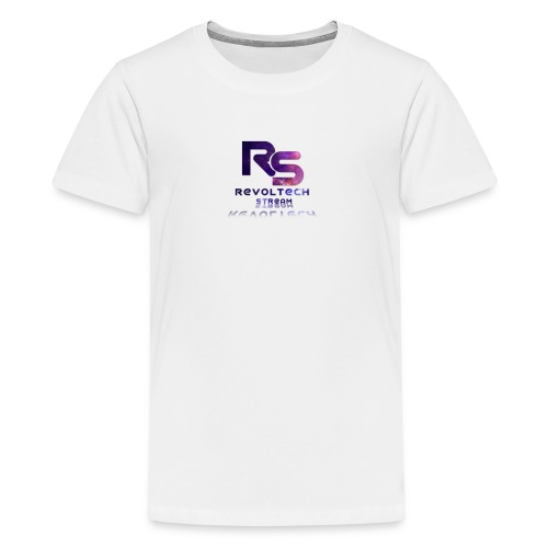 Férfi Rövid Ujjú Poló Fehér - Teenage Premium T-Shirt
