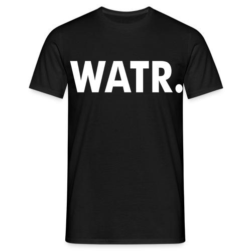WATR T-SHIRT MEN BLACK - Mannen T-shirt