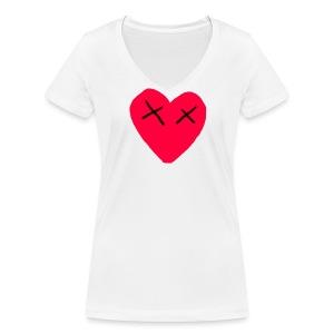 (L0VE I$ DEAD) T-Shirt WOMEN - Vrouwen bio T-shirt met V-hals van Stanley & Stella